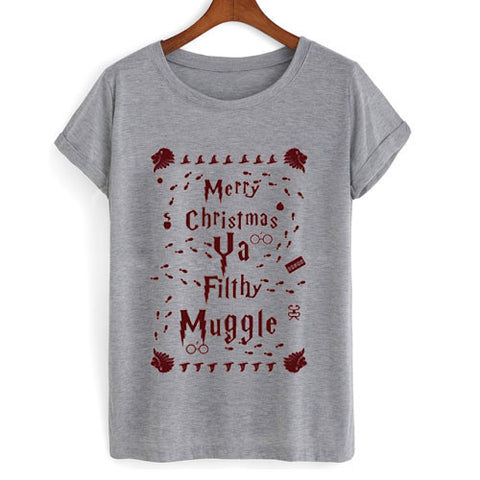 Merry Christmas Ya Filthy Muggle Harry Potter Shirt Ugly Christmas tshirt