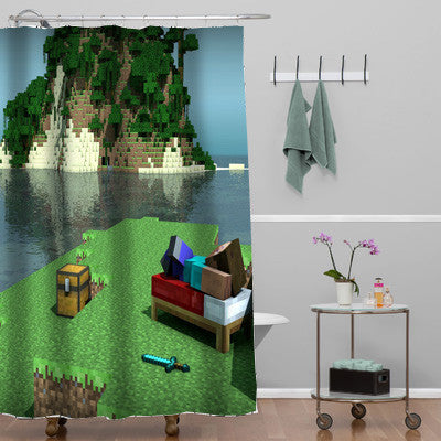 Minecraft Mine Craft Personalized shower curtain customized design for home decor