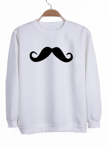 Moustache sweatshirt