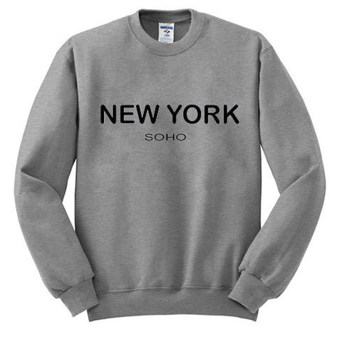 New York SOHO Grey Sweatshirt