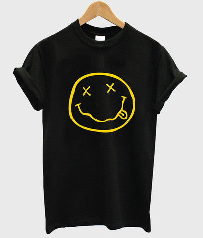 Nirvana Smiley Face Logo tshirt