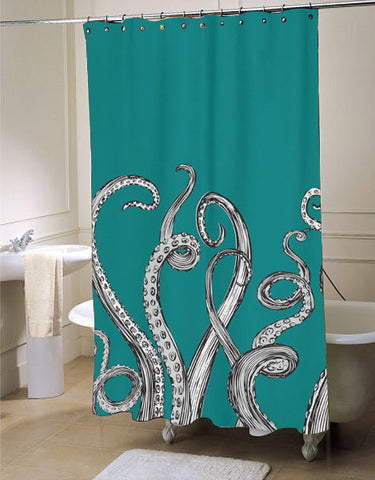 Octopus Tentacle Shower Curtain Customized Design For Home Decor