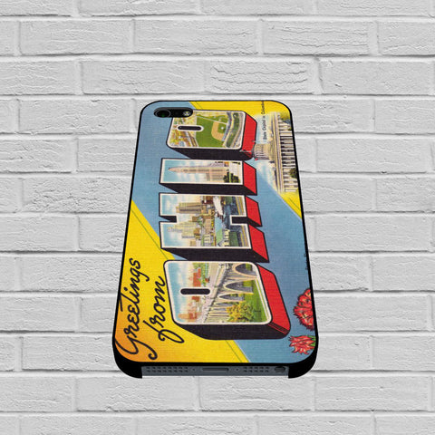 Ohio Postcard case of iPhone case,Samsung Galaxy