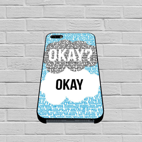 Okay Okay John Green The Fault In The Stars case of iPhone case,Samsung Galaxy