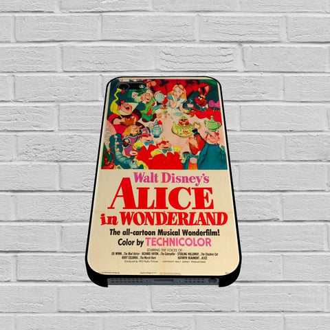 Old Disney Posters Alice In Wonderland case of iPhone case,Samsung Galaxy