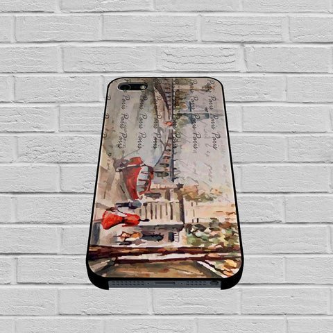 Old Paris Postcard With Eiffel Tower case of iPhone case,Samsung Galaxy