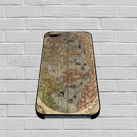 Old Retro World Map case of iPhone case,Samsung Galaxy