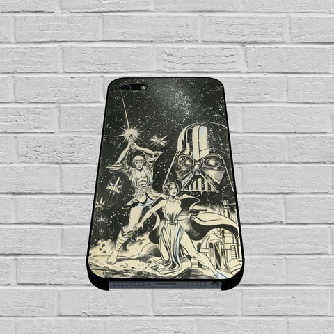 Old Star Wars Black and White case of iPhone case,Samsung Galaxy