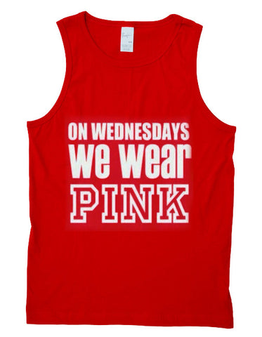 On Wednesdays We Wear pink  tanktop