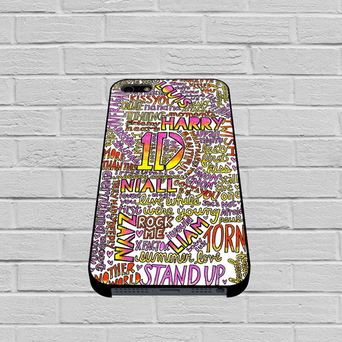 One Direction Love Rainbow Collage case of iPhone case,Samsung Galaxy