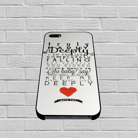 One Direction Truly Madly Deeply1 case of iPhone case,Samsung Galaxy