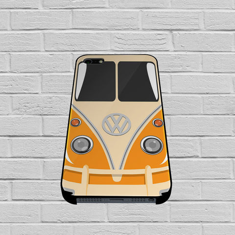 Orange VW Camper Volkswagen Minibus case of iPhone case,Samsung Galaxy