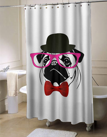 PUG crazy shower curtain customized design for home decor