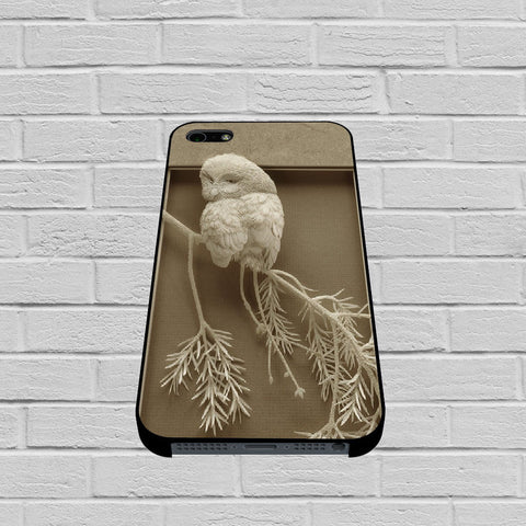 Paper Sculpture Owl case of iPhone case,Samsung Galaxy