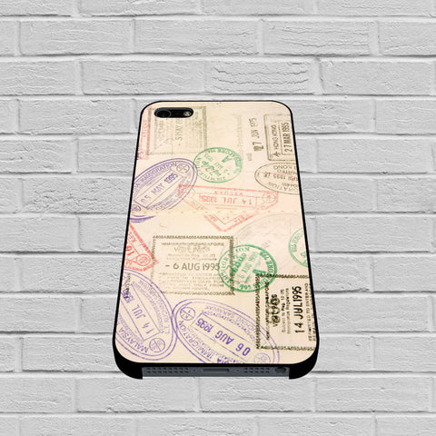 Passport Stamps World Travel Marks case of iPhone case,Samsung Galaxy