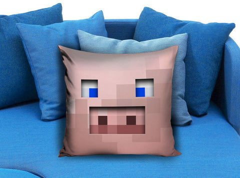 Pig Creeper Pink Minecraft Game Pillow case