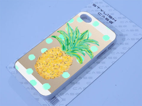 Pineapple case with polka dots iphone case