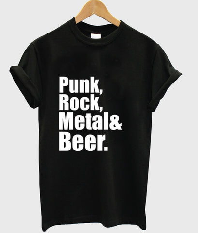 Punk Rock Metal & Beer T Shirt