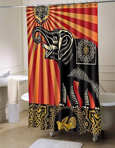 Elephant Bird  shower curtain customized design for home decor