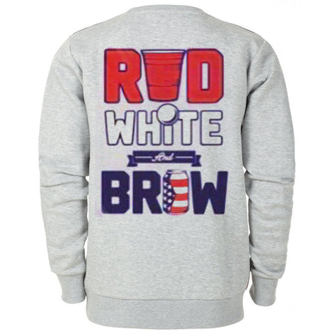 Red White Brown Back Sweatshirt