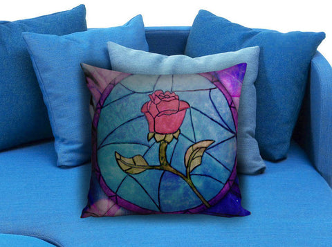 Rose Beauty and the Beast Pillow case