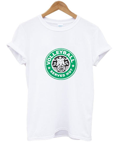 Served hot starbucks tshirt