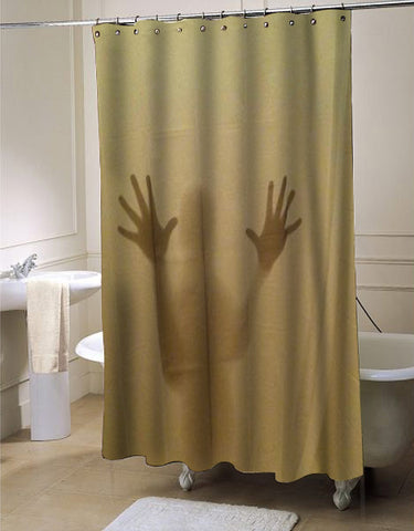 Shadowy Figure Scary shower curtain customized design for home decor