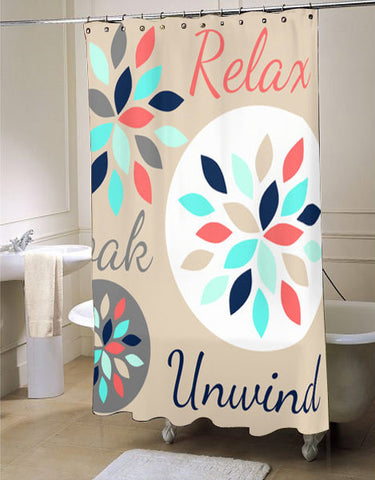 Relax Soak shower curtain customized design for home decor