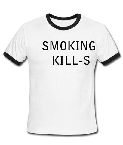 Smoking kills tshirt ring