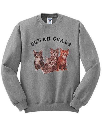 Squad Goals cat sweatshirt