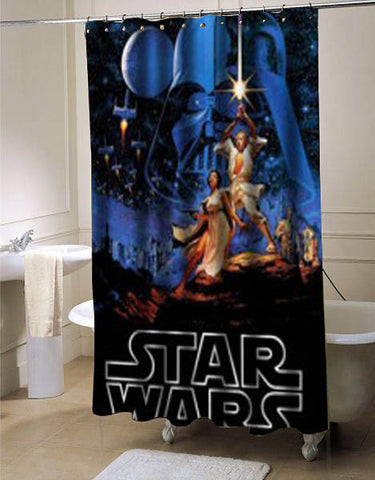 Star Wars shower curtain customized design for home decor