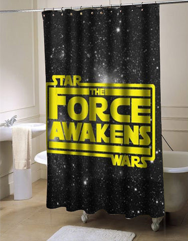 Star Wars The Force Awakens in Yellow  shower curtain customized design for home decor