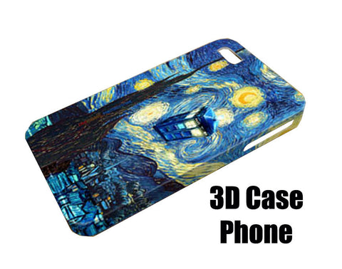 Starry night dr who Design 3D Case Phone case iPhone case Samsung Galaxy Case