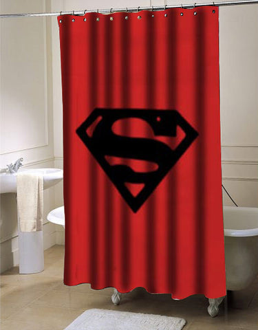 Superman shower curtain customized design for home decor