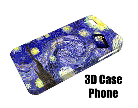 Tardis dr who painting Design 3D Case Phone case iPhone case Samsung Galaxy Case