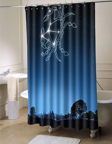 Too Amazing Cancer Waterproof Fabric Bath shower curtain customized design for home decor