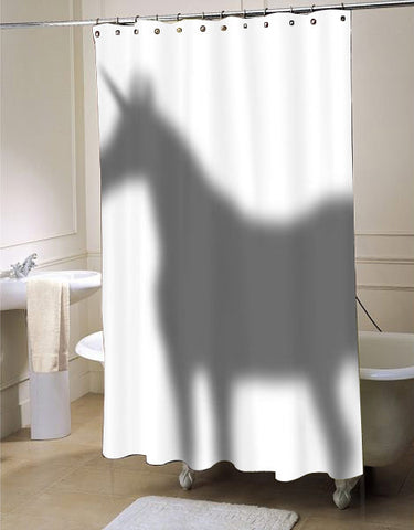 Unicorn In The Shower Curtain Shadow shower curtain