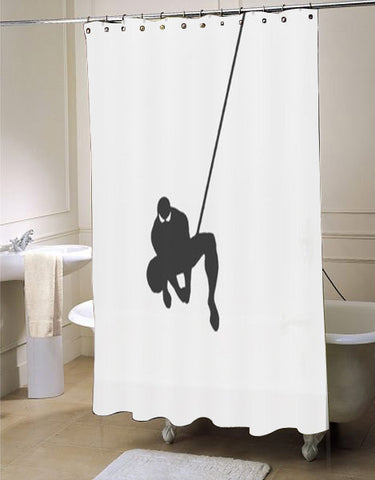 Web Slinging Spiderman shower curtain customized design for home decor
