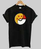 a black dragon ball pokemon crossover shirt