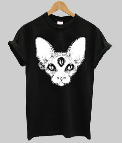 alien cat T shirt