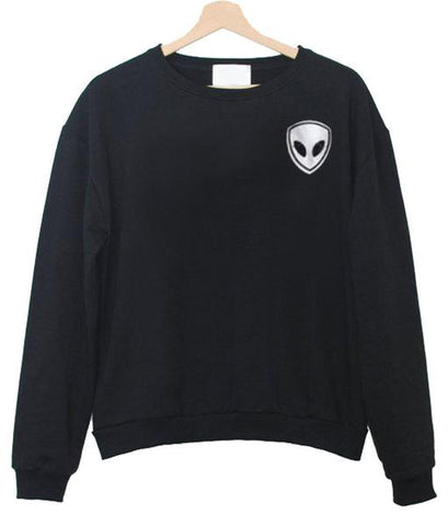alien pocket black sweatshirt