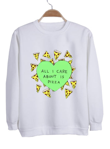 all i care sweatshirt
