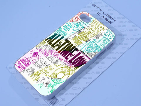 all time low art lyric rainbow Phone case iPhone case Samsung Galaxy