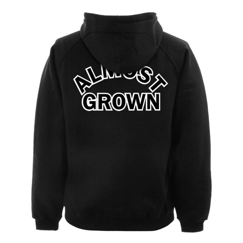 almost grown  hoodie BACK