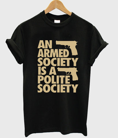 an armed T shirt