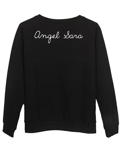 angel sara sweatshirt back