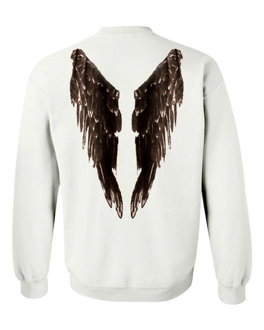 angel wings back Sweatshirt