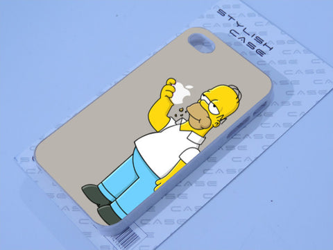 apple logo homer simpson iphone case Phone case iPhone case Samsung Galaxy Case