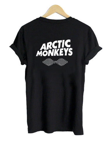 arctic monkeys logo back T shirt