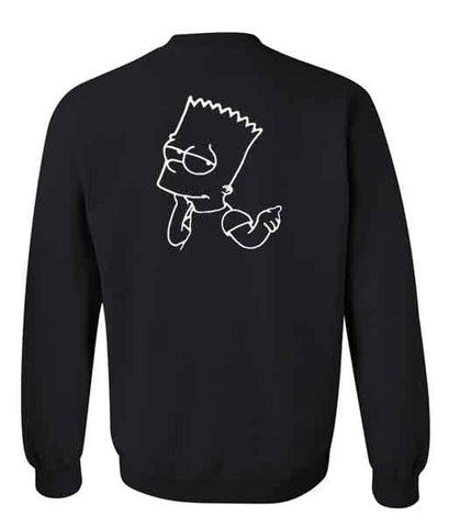 bart simpson sweatshirt back